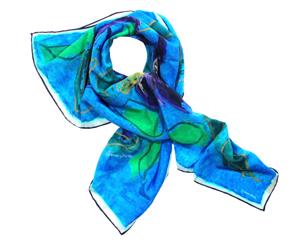 Le Foulard 'Blue Irises' (Limited Edition)