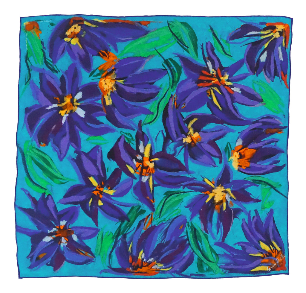 Le Foulard 'Remembering Irises' (Limited Edition)