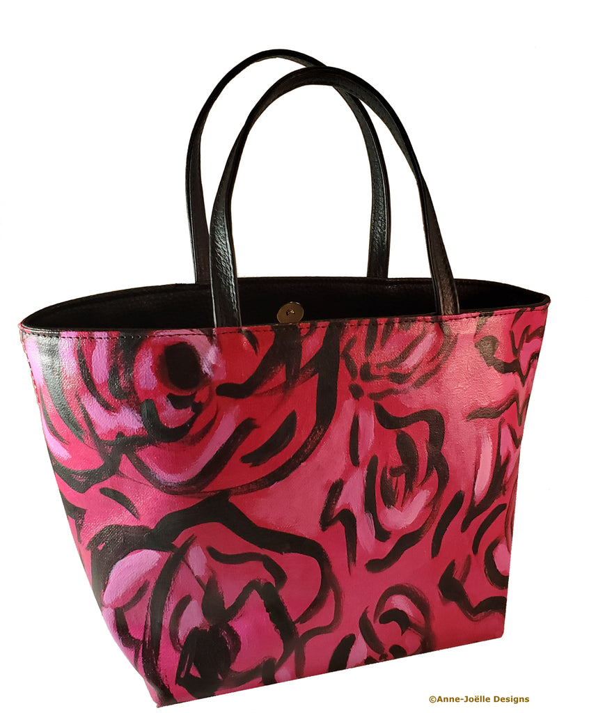 The Red Roses Painted Bag