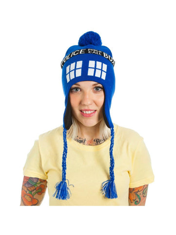 DR. WHO - Police Box Pom Laplander Blue