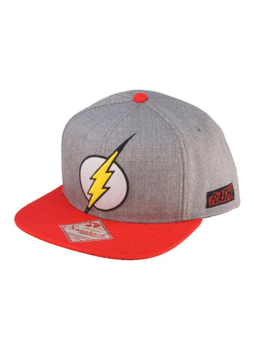 DC COMICS - Flash - Original Logo Snap Back Flatbill Red Grey