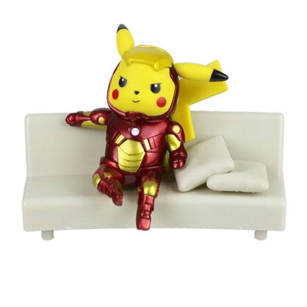 Iron Man Pikachu Figurine