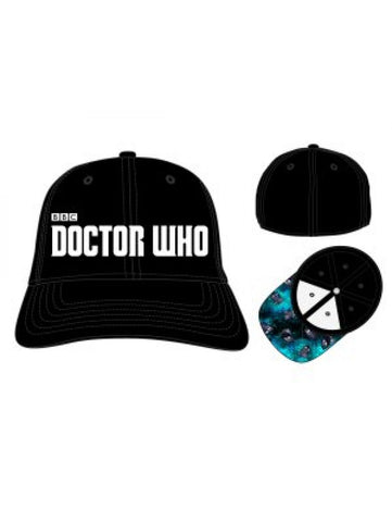 DR.WHO - Logo Black Skate Flex Cap