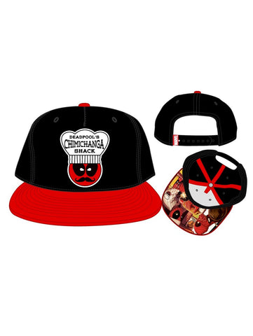 DEADPOOL CHIMICHANGA SHACK PATCH 5P SNAPBACK