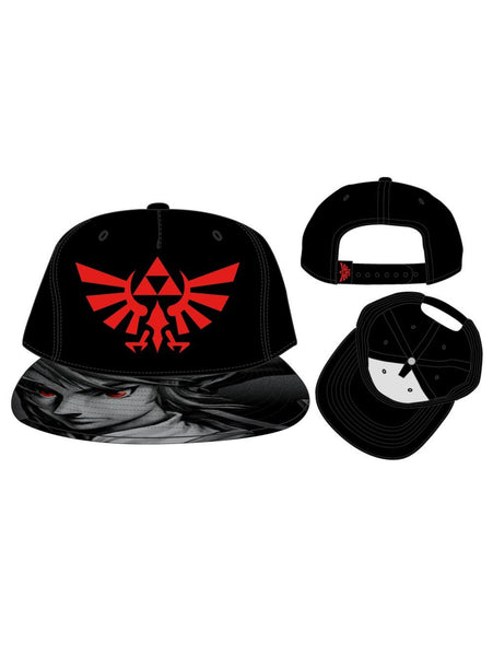 NINTENDO - ZELDA - 3D EMBRODIERY RED LOGO WITH SUBLIMATED BILL SNAPBACK