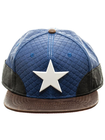 MARVEL - CAPTAIN AMERICA - PU Snapback Blue with White Star