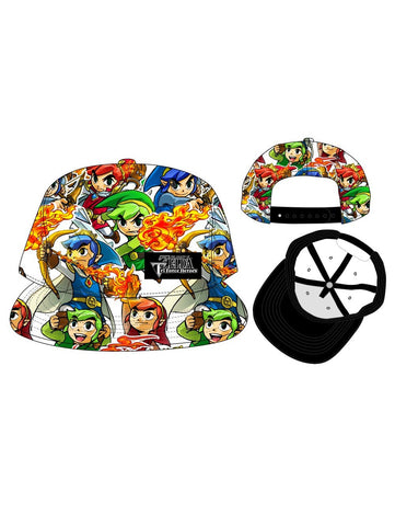 NINTENDO - ZELDA TRIFORCE - Allover Sublimated Snapback Cap Multi Character