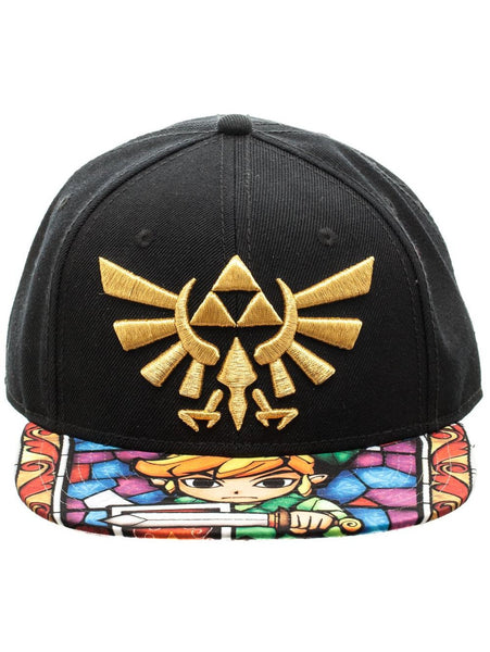 NINTENDO - ZELDA - A/O Window Pane Print Bill S/B Cap Multi Black