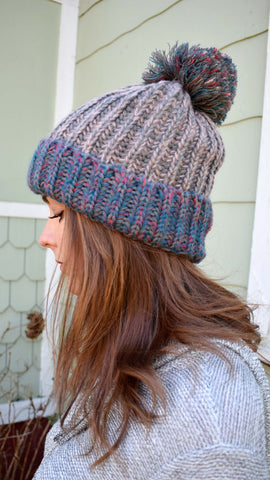 Mixed Yarn Beanie