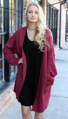 Bonfire Sweater - Marsala