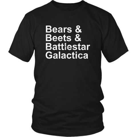 Bears Beets Battlestar Shirt