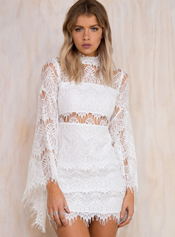 EDGE OF DESIRE LACE SCALLOP DRESS