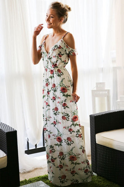 BALMY NIGHTS FLORAL MAXI