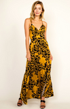 "THE ""NIKI"" GOLDEN CHEETAH MAXI DRESS"