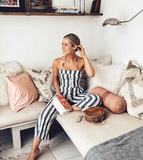 STRAPPY AND STRIPED JUMPSUIT