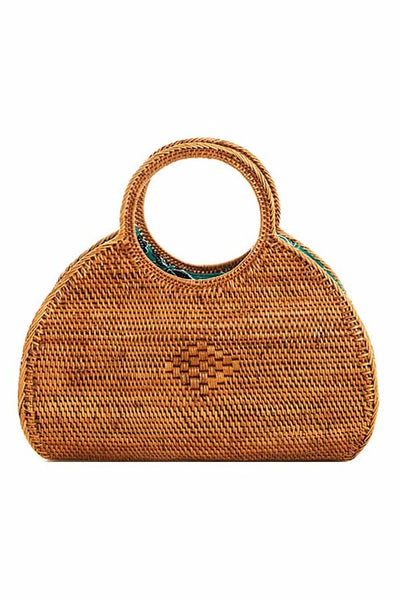 "THE ""BREEZE"" HANDWOVEN HALF MOON BAG"