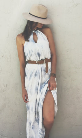 SKY'S THE LIMIT HALTER DRESS
