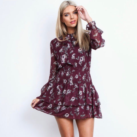 PLAYFUL RUFFLE MINI DRESS
