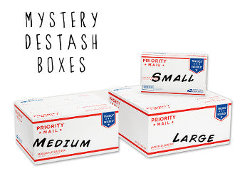 Mystery Destash Boxes for the creative Diy-er.