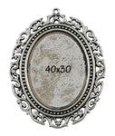 Setting Blank for cameo 40x30 Pendant Tray Bezel (Sold individually)