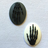 Anatomy Skeleton hand Bones Cameo- 40x30mm - (TU Original Design)
