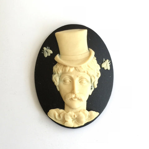 steampunk Sally cameo - 40x30mm - (TU Original Design)