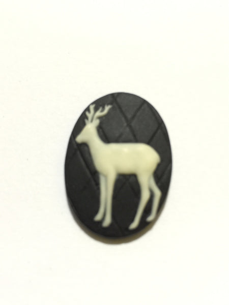 Deer Cameo - 25x18mm - 1pc