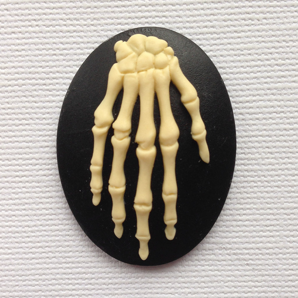 Anatomy Skeleton Hand Bones Cameo 40x30mm Tu Original Design