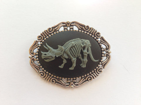 Skeleton Dinosaur Bones Cameo - 40x30mm - 1pc (TU Original Design)