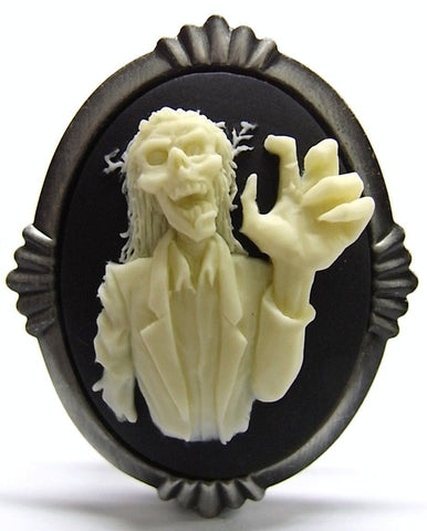 Zombie Grandpa Cameo - 40x30mm - 1pc