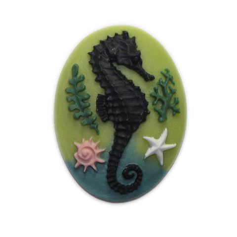 Sea Horse Cameo - 40x30mm - Sold individually