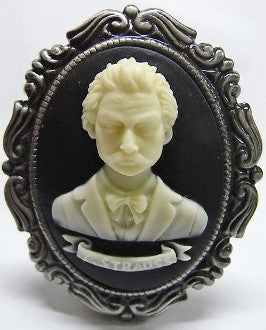 Composer Strauss Cameo - 40x30mm - 1pc