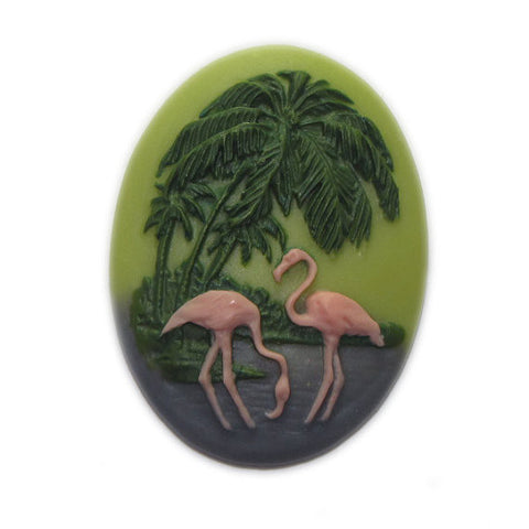 Flamingo Cameo - 25x18mm - Sold individually
