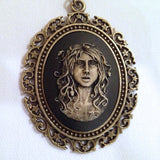 Medusa Snakes Cameo- 40x30mm - (TU Original Design)