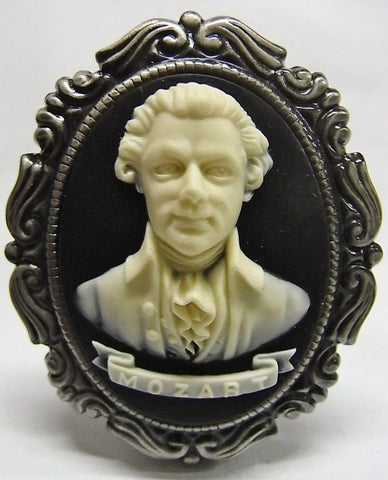 Composer Mozart Cameo - 40x30mm - 1pc
