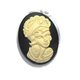 Pinup Tattoo Girl cameo - 40x30mm - (TU Original Design)
