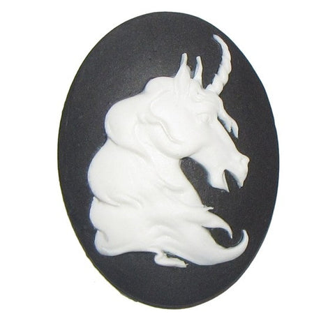 Unicorn Head cameo - 25x18mm - 1pc