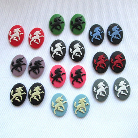 Unicorn cameo - 18x13mm - Full Set - 20pcs