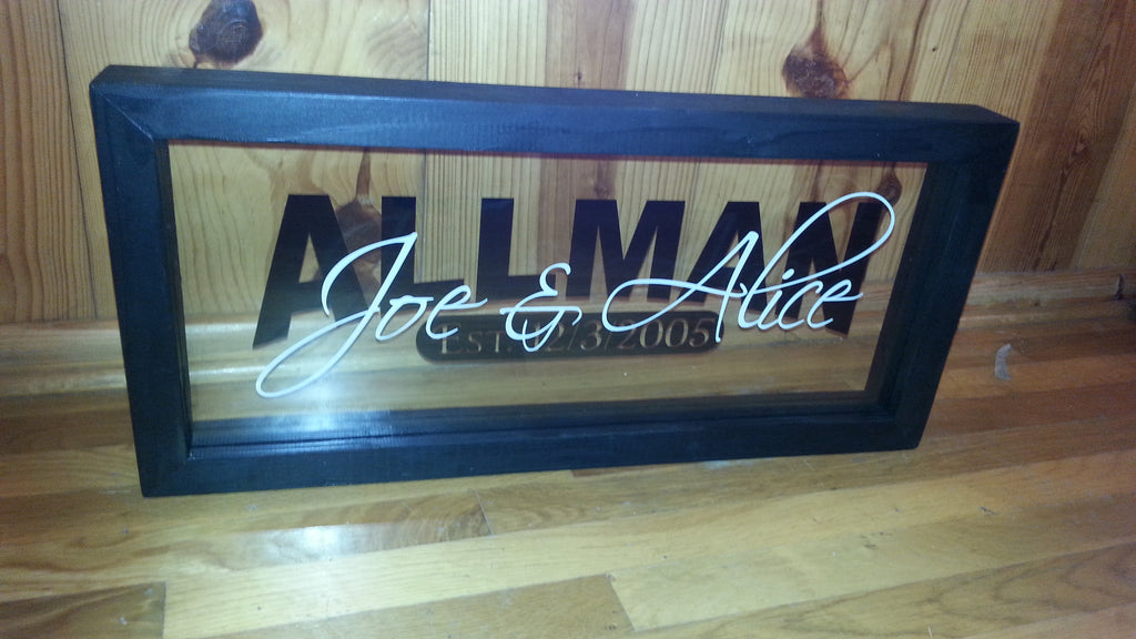 Black Personalized Wedding Frame Carters Creativity Personalized