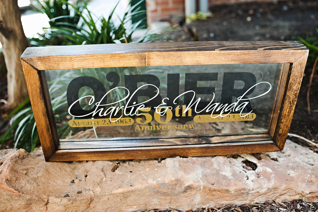 Dark Stain Personalized 50th Anniversary Frame – Carter\'s Creativity ...