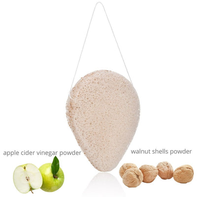 ACV Power and Walnut Shell Konjac Sponge - Hello Cider