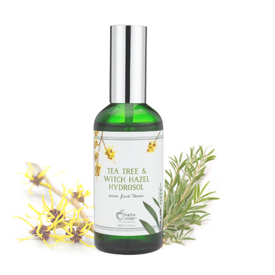 Organic Tea Tree Witch Hazel Acne Face Toner - Hello Cider