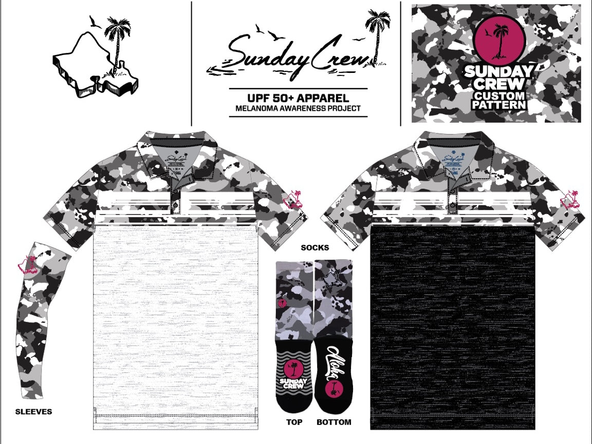 LIMITED EDITION HAWAIIAN ISLAND ARCTIC CAMO (WHITE BOTTOM )
