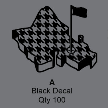 BLACK OGA HOUNDSTOOTH DECAL