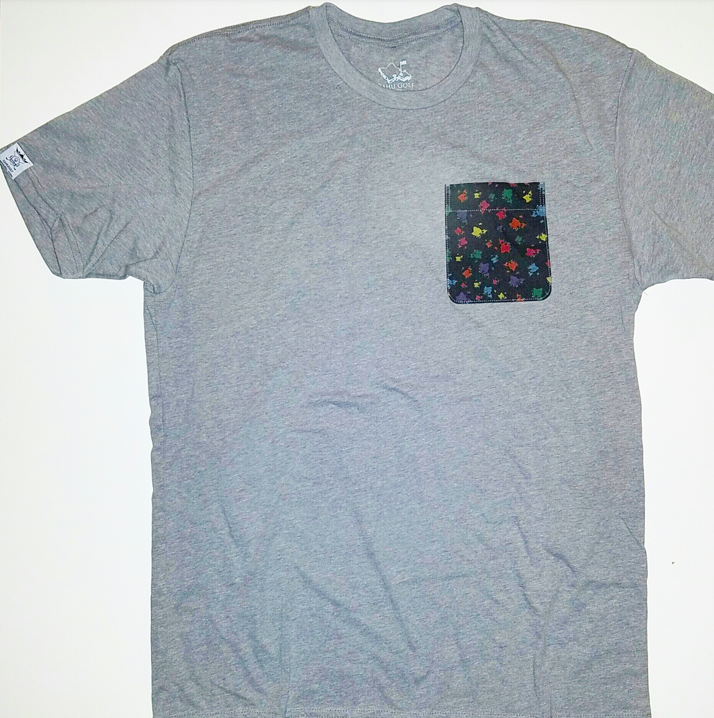 "ATHLETIC GRAY ""PRINTED"" POCKET TEE-SHIRT"