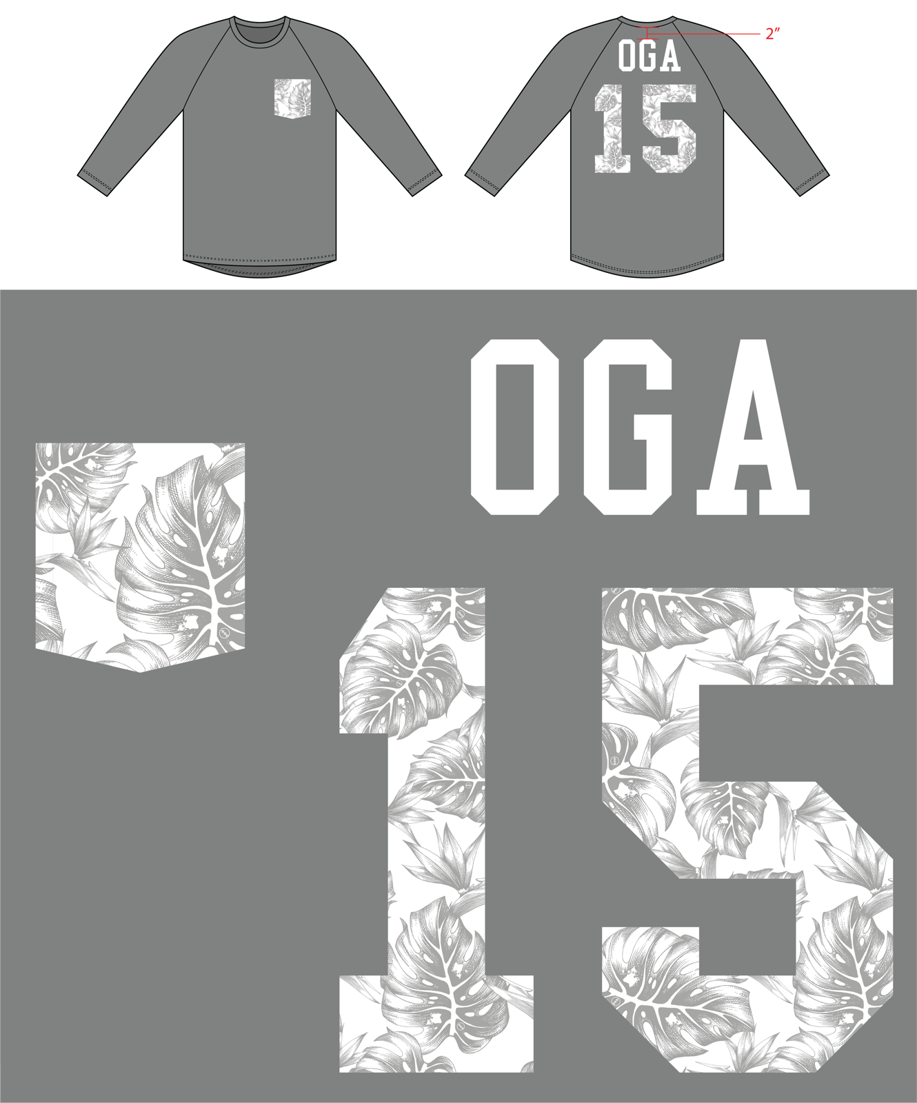 2015 RAGLAN OGA MONSTERA FAKE POCKET (LIMITED EDITION)