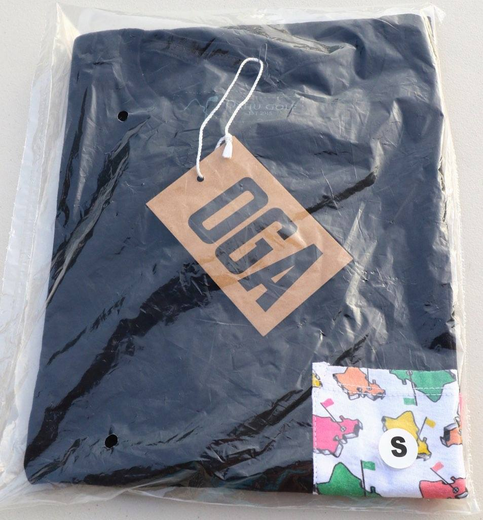 MULTI-COLOR CUT AND SEW OGA POCKET TEE-SHIRT (BLACK)
