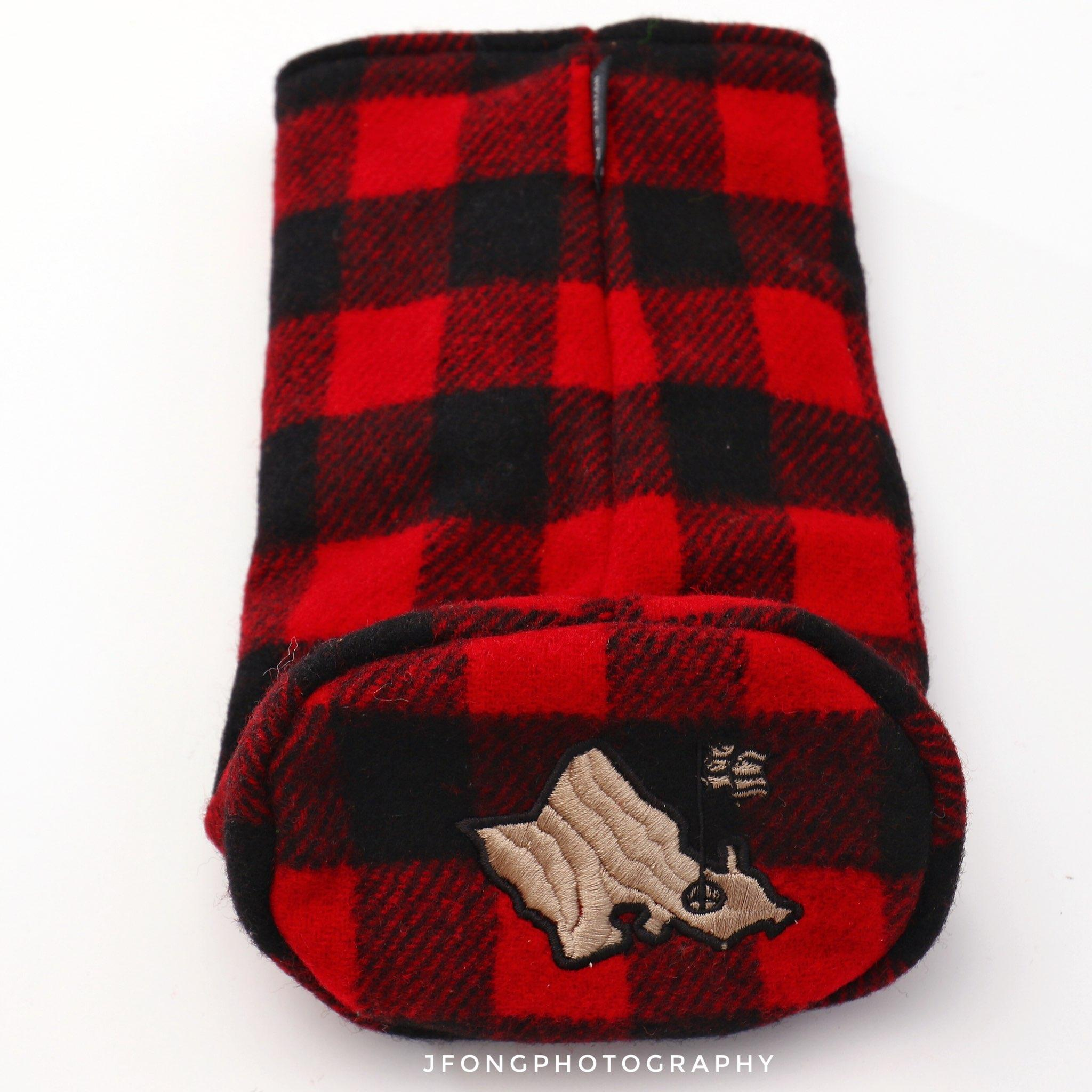 BLACK AND RED PLAID SEAMUS/OGA  DRIVER COVER