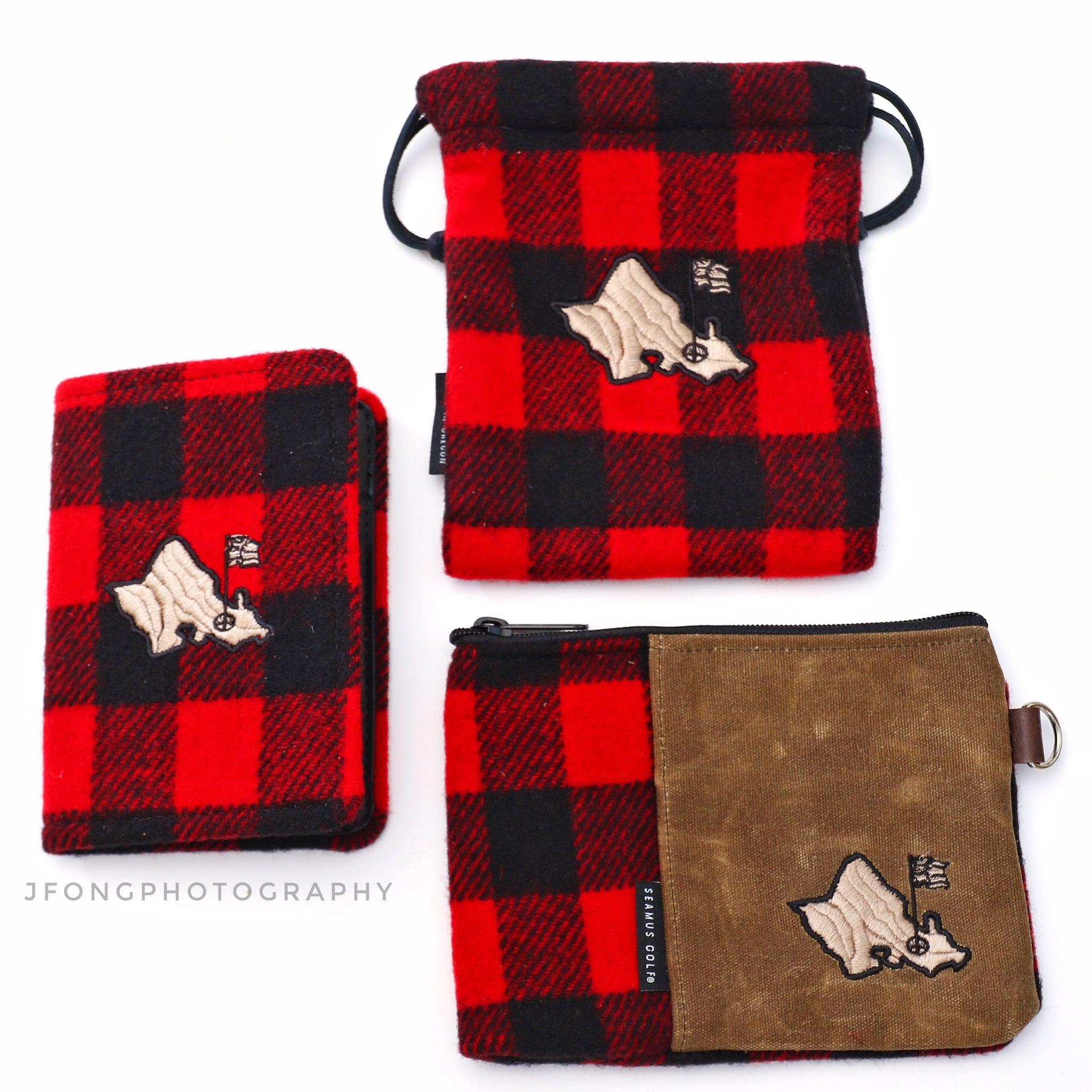 BLACK AND RED PLAID SEAMUS/OGA SCORECARD HOLDER