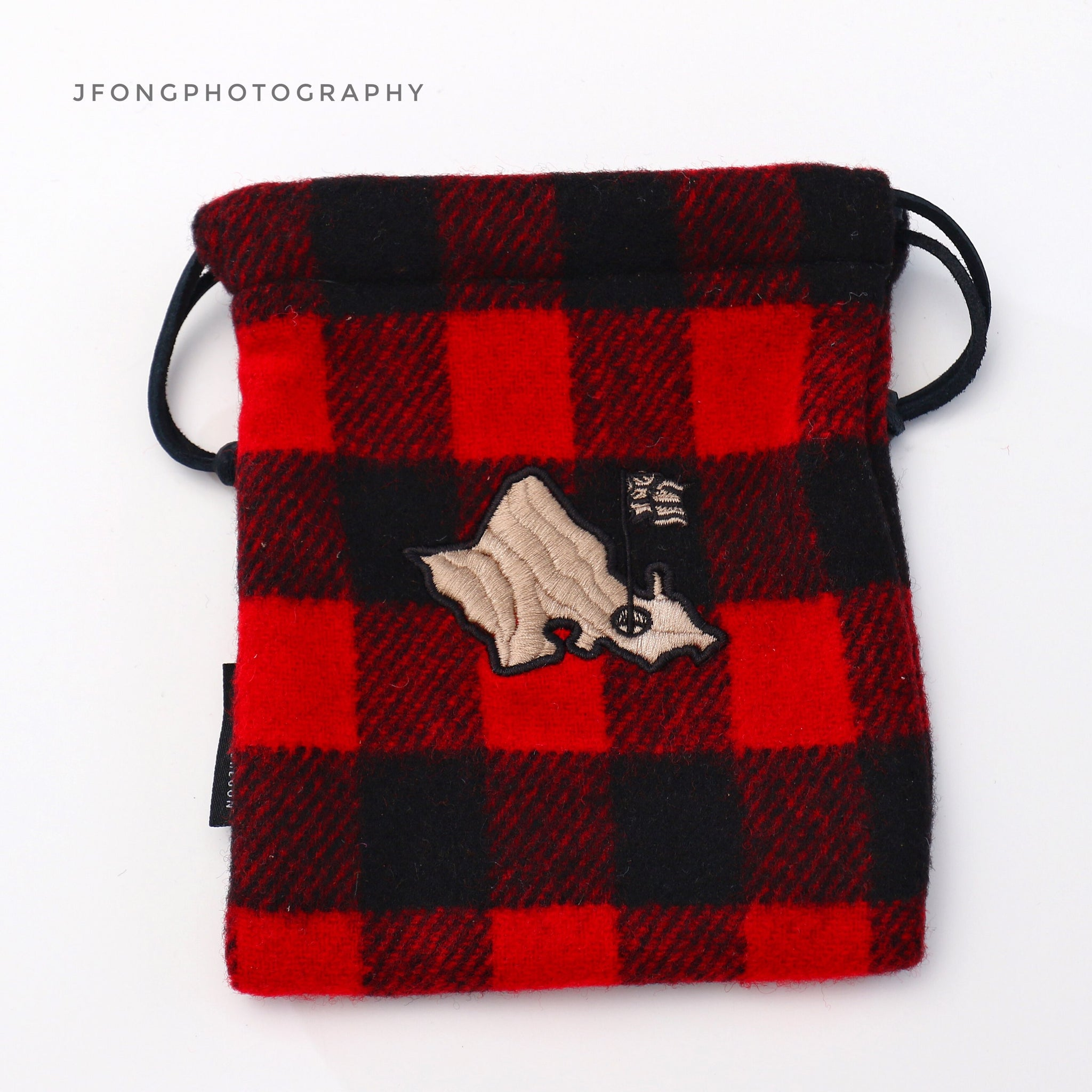 BLACK AND RED PLAID SEAMUS/OGA POUCH
